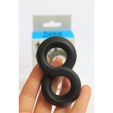 Кольцо эрекционное силиконовое SEX EXPERT с петлей для мошонки продлевающее
