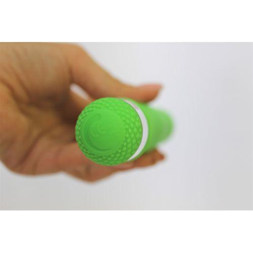 Вибратор вагинальный АБС пластик Счастье Навсегда зелёный L 17,5 см D 2,9 см
