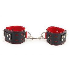 Наручники для БДСМ чёрные PVC Handcuffs Standart Hand Cuffs