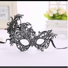 Интимная ажурная венецианская маска на глаза для ролевых игр SKN