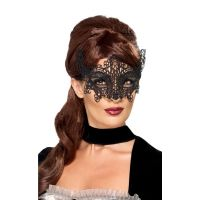 Ажурная маска на глаза SKN для БДСМ черная