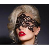 Ажурная венецианская маска черная SKN-C010