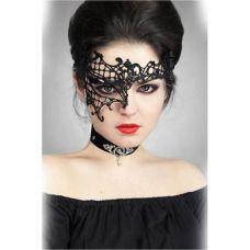 Ажурная венецианская маска черная SKN-C012