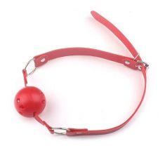 Кляп с шариком для рта розового цвета SKN-KK07