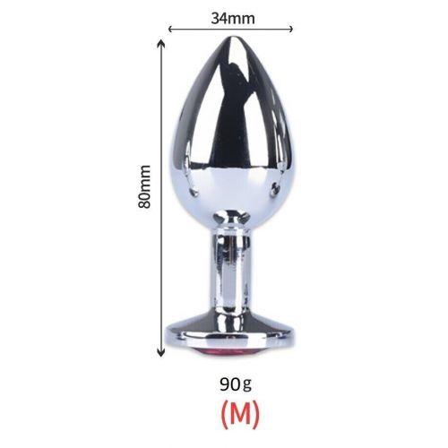 Анальная пробка с кристаллом SKN-MS93 размер M