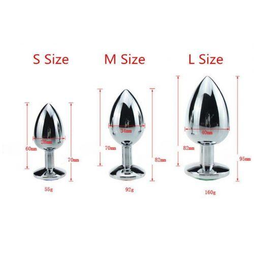 Комплект анальных пробок с кристаллом SKN-NMS26 размер S, M, L
