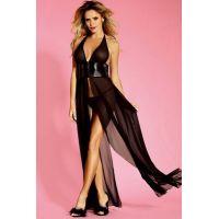 Макси платье Sunspice с глубоким вырезом чёрное L/XL