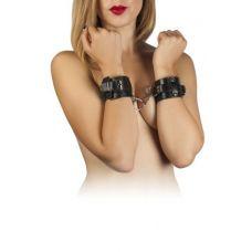 Наручники для секса из кожи черные Leather Dominant Hand Cuffs