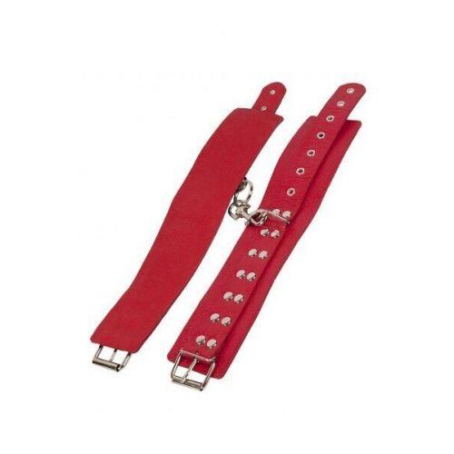 Оковы для ног кожаные красные Leather Restraints Leg Cuffs