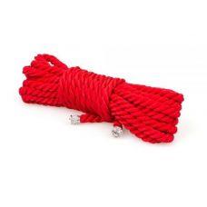 Веревка для бондажа красная БДСМ 5 метров