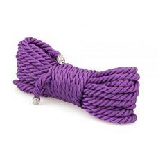 Веревка для бондажа фиолетовая БДСМ 10 метров