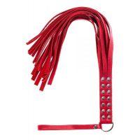 Флогер плеть красная для телесных наказаний Double fancy flogger