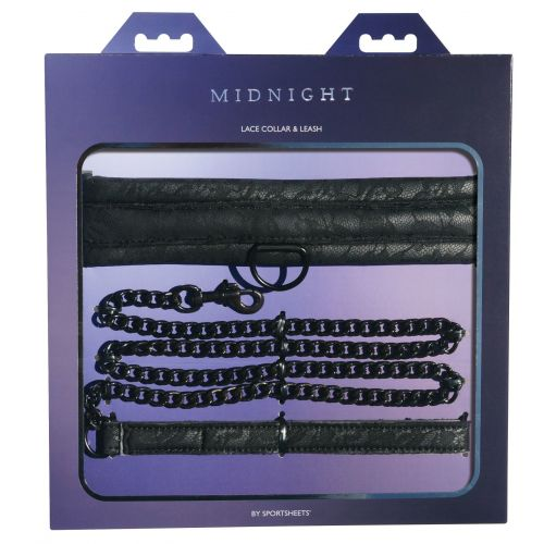 Ошейник с поводком Sportsheets Midnight Lace Collar and Leash