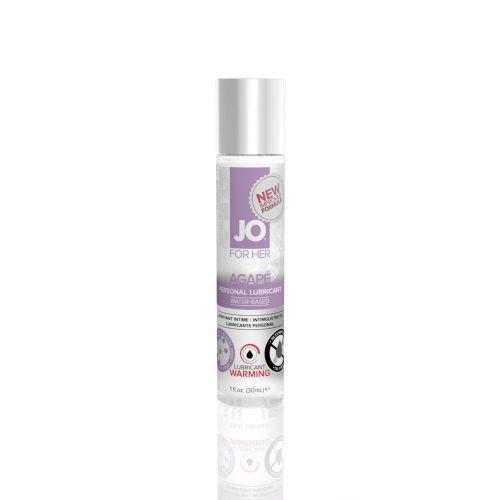Лубрикант на водной основе System JO AGAPE - WARMING (30 мл) имитатор женской смазки согревающий и для игрушек (Систем Джо)