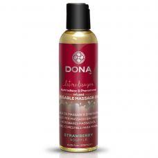 Массажное масло со вкусом клубничного суфле DONA Kissable Massage Oil 125 мл