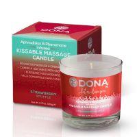 Свеча для массажа с ароматом клубничного суфле DONA Kissable 125 мл
