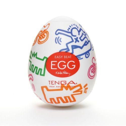 Яйцо мастурбатор для мужчин Keith Haring EGG Street Tenga
