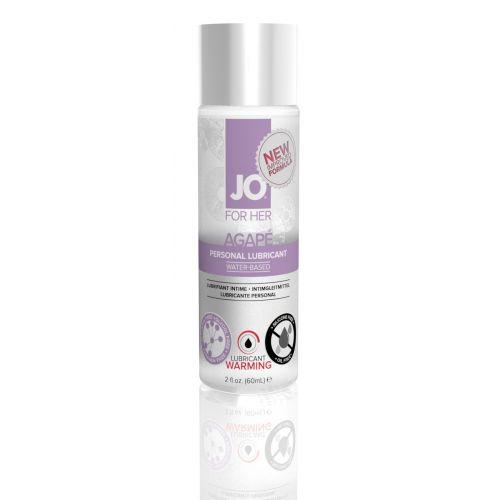 Лубрикант на водной основе System JO AGAPE - WARMING (60 мл) имитатор женской смазки согревающий и для игрушек (Систем Джо)