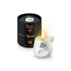 Свеча для массажа с ароматом клубники Plaisirs Secrets 80 мл