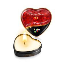Массажная свеча-сердечко афродизиак с ароматом жвачки Бабл Гам Plaisirs Secrets 35 мл