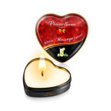Массажная свеча-сердечко с возбуждающим ароматом Мохито Plaisirs Secrets 35 мл