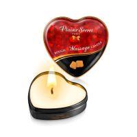 Свеча для массажа-сердечко возбуждающая с запахом Карамель Plaisirs Secrets 35 мл
