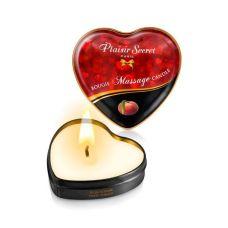 Массажная свеча-сердечко возбуждающая с запахом Персик Plaisirs Secrets 35 мл