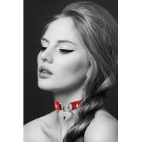 Чокер с замочком в виде сердечка Bijoux Pour Toi - HEART LOCK Red Красный