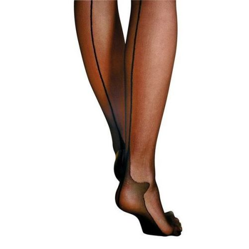 Чулки Anne De Ales FLORA T3 Черные
