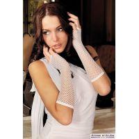 Митенки-перчатки эротическая сетка Anne De Ales White