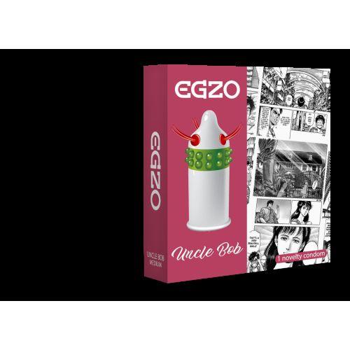 Насадка на член EGZO Uncle Bob (презерватив с усиками)