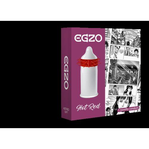Насадка на член EGZO Hot Red (презерватив с усиками)
