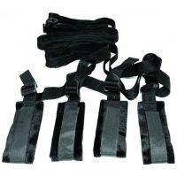 Набор для связывания мягкие наручники и ремни Sex and Mischief - Bed Bondage Restraint Kit