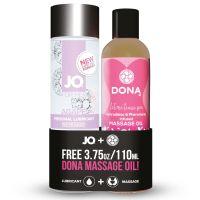Подарочный набор Смазочка и Массажное масло System JO Limited Edition Promo Pack - Jo Agape (120мл) + DONA Flirty Massage (110) (Систем Джо)