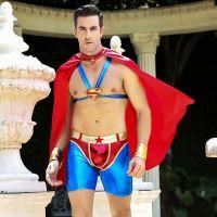 Мужской эротический костюм супермена Сексуальный Стив спасатель Оргазмов
