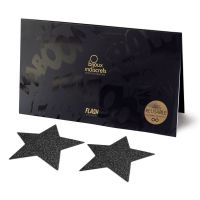 Украшение пэстисы на соски в форме звезды Bijoux Indiscrets - Flash Star Black Черное