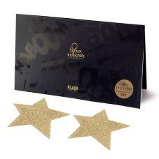 Украшение Искушение на соски X Bijoux Indiscrets - Flash Star Gold