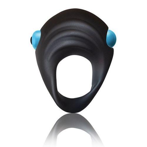 Вибронабор анальная пробка и эрекцинное кольцо силиконовые Rock off Men-X IBEX 10 режимов вибрации