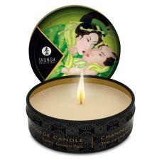 Свеча для массажа возбуждающая с запахом Экзотический зеленый чай Shunga 30 мл