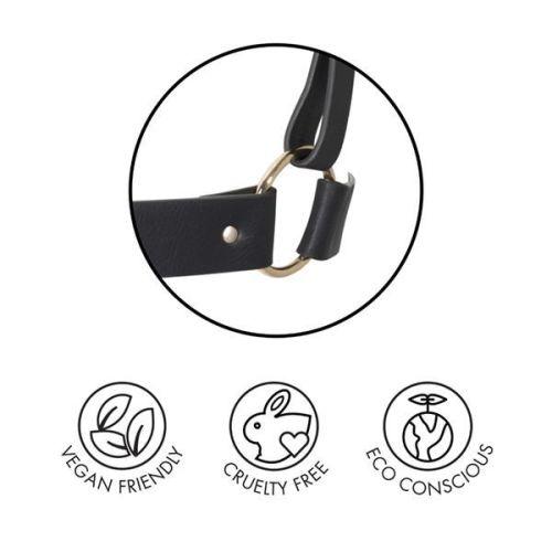 Наручники мягкие изысканные Bijoux Indiscrets MAZE - Wide Cuffs Black