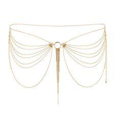 Украшение сексуальное для тазовой области Bijoux Indiscrets MAGNIFIQUE Waist Chain - Gold Позолота
