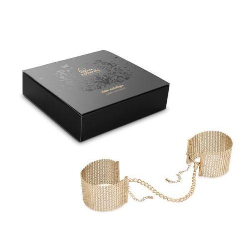 Наручники-украшение эротическая игра Bijoux Indiscrets Desir Metallique Handcuffs - Gold