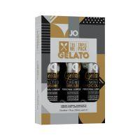 Подарочный набор съедобных смазок для орального и вагинального секса System JO Limited Edition Tri-Me Triple Pack - Gelato (3 х 30 мл) (Систем Джо)
