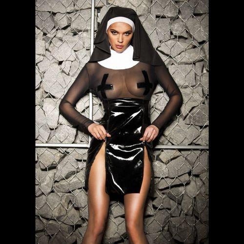 Эротический костюм для Ролевых Игр Шаловливой монашки Скромница Софи XS/S