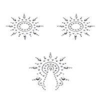 Пэстис на сосочки Petits Joujoux Gloria set of 3 - Silver