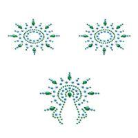 Пэстис на соски Petits Joujoux Gloria set of 3 - Green/Blue