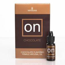 Возбуждающе масло с вибрацией вкусом шоколада Sensuva ON Arousal Oil for Her 5 мл