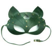 Маска кошки для БДСМ LOVECRAFT зеленая