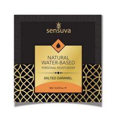Гель-лубрикант на водной основе с ароматом соленой карамели Natural Sensuva 6 мл