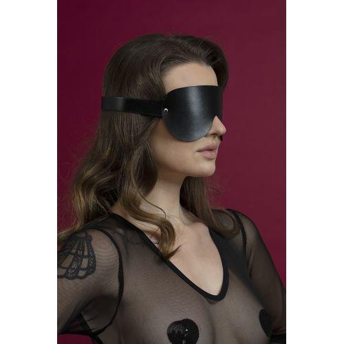 Маска закрытая на глаза Feral Feelings черная для БДСМ